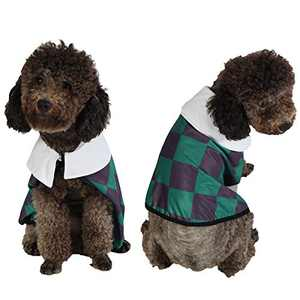 Coomour Cute Dog Costume Pet Funny Anime Cloak Cartoon Costume Cute Cat Cosplay Cape for Small to Large Dogs Cats Clothes (X-Large, Green)