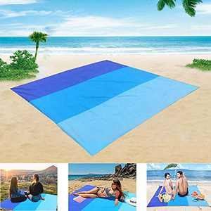 Beach Blanket Sandproof,79''×83'' Outdoor Blanket Waterproof,Oversized Lightweight Portable Beach Mat for 4-7 Adults,Quick Drying Outdoor Camping Mat for Travel,Hiking,Picnic,Beach (A, 79''×83'')