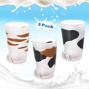 Cat Claw Cup Cat Paw Frosted Cup Cute Cat Foot Claw Glass Cup Print Mug Cat Paw Coffee Kids Milk Glass Cups Couples Household Cups for Men and Women