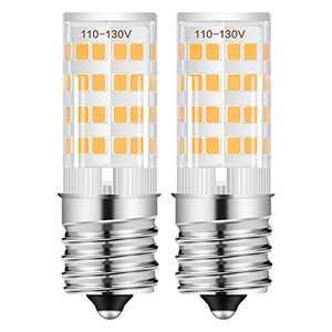 E17 LED Bulbs, AMAZING POWER E17 Appliance Bulbs Microwave Oven Light Bulbs Warm White 3000K - 2 Pack