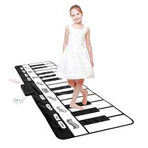 "Giant Piano Mat 24 Keys Floor Piano Mat for Kids 71"" Musical Keyboard Play Mat Dance and Learn Mat for 3-8 Years Old Boy Girl"