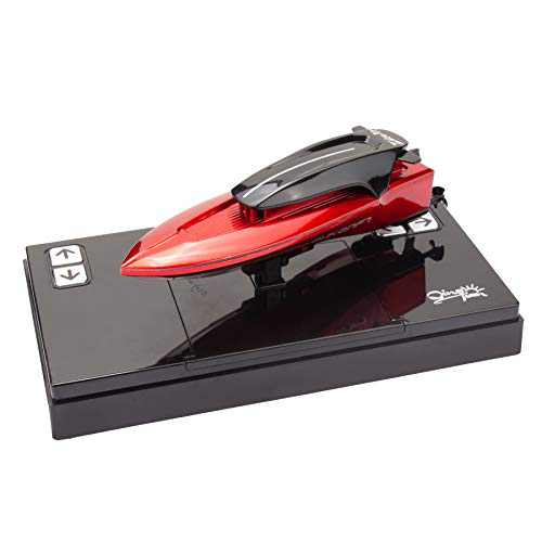 Meryi Mini RC Boat - Speedboat Red - Remote Control Toys for Kids - Pool or Lake - Child Protection Function - Cool Cute Delicate - Electric Ship (Speedboat-Red)