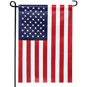 ROTERDON American Garden Flag - 12x18 Inch US 4th of July Double Side Vertical Patriotic Outdoor Lawn Banner Flag