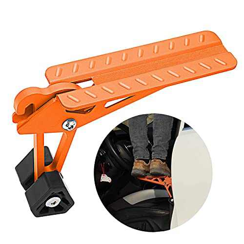 COWVIE Foldable Car Door Step Stand Pedal - Access To Vehicle's Top Roof Both Feet Stand Pedal Ladder For Most SUV Truck Jeep Orange (Fit F150)