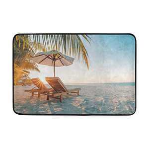 KLL Door Mat Home Decorative Indoor Outdoor Beach Sunshine Doormat Non-Slip Polyester Fabric Delicate Rugs Kitchen Bath Garden Entryway Carpet 23.6×15.7