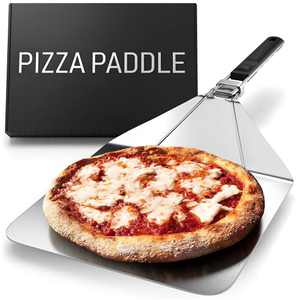 Stainless Steel Folding Pizza Peel - For Professional, Pizzeria-Standard Results at Home - Kensington London Space-Saving, Ergonomic Handle, Corrosion-Resistant Metal Turning Paddle - 10 inch