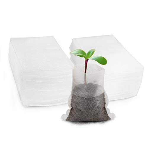 ENPOINT Seed Starter Bags Small, 200PCS 3x4 inch Non-Woven Nursery Plant Grow Bags, Fabric Seedling Bags Pots Pouch for Plants Seeding Clones Home Garden Supply