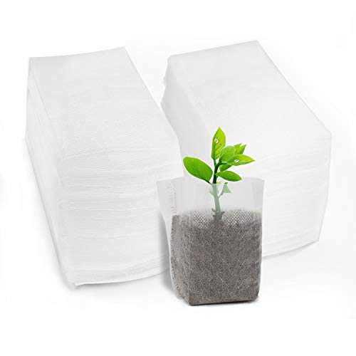 ENPOINT Non-Woven Nursery Bags, 200PCS 5x6 inch Planter for Tree Seedling, Fabric Seed Starting Soil Transplant Pouches, Home Garden Supply