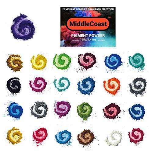 Mica Powder for epoxy,25 Colors Lip Gloss Pigment Powder Resin Dye, Slime Colorant Resin Pigment dye Bath Bomb & Soap Making Polymer Clay
