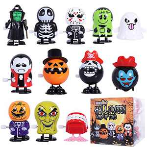 Max Fun 12Pcs Halloween Toys Wind Up Toy Assortment for Halloween Party Favors Goody Bag Filler (Halloween Wind-up Toys 2)