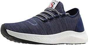 BenSorts Mens Non Slip Walking Shoes Workout Gym Indoor Cross Training Shoe Lightweight Weight Lifting Spin Biking Footwear Sneakers Size 11 Blue