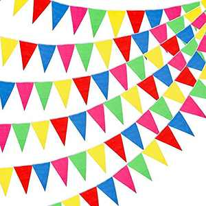 ROPPYAR Multicolor Pennant Banner Bunting Flags for Party Decorations, Birthdays, Festivals, Christmas Decorations (300Pcs)