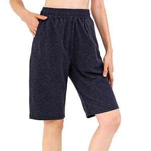 Samsports Shorts for Women,Women's Bermuda Yoga Lounge Shorts Athletic Workout Running Pants (Darkgray, X-Large)