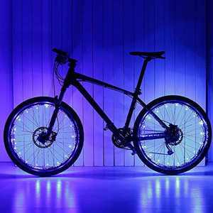 Caly Bike Wheel Lights, LED Wheel Lights Bike Bicycle Lights for Kids Birthday Gifts for Teen Boys Girls Blue