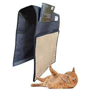 Multifunctional Cat Scratching Mat Sofa Armrest Storage Natural Sisal Cat Scratcher Pet Scratch Protector Couch Shield Cat Scratching Pads Couch Protector Guard (Black)