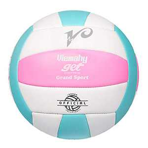Premium Volleyball - Waterproof Indoor/Outdoor Official Volleyball for Boys/Girls , Gift for Birthday, Xmas Day(Pink,Blue,White)