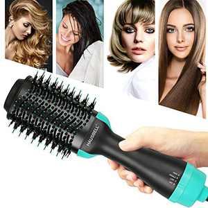 HAUSBELL Hot Air Brush, Hair Dryer Brush, Multifunctional Hair Dryer and Volumizer, Negative Ions Blow Dryer Brush for Hair Dryer, Straightener, Curler and Styler, Brush Hair Dryers, Blow Dry Brush