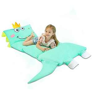 Floor Pillow Bed Cover Dinosaur Floor Lounger Seats Case for Kids, Plush Queen Size Floor Pillow Bed Mattress Cover Playroom Decor Kids Couch Reading Cushion (Cover ONLY)