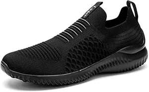 Lxso Women's Men's Walking Shoes Casual Athletic Socks Mesh Breathable Gym Sports Running Sneakers Shoes Black