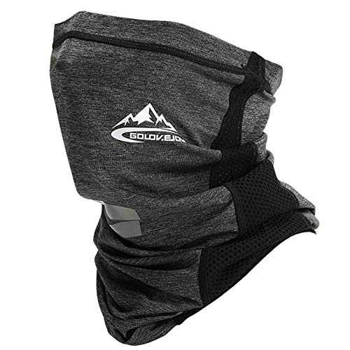 VOCALOL Summer UV Protection Face Cover,Anti Air Pollution Smoke Face Scarf Dust Cover Reusable Headwear Sports-Headbands Neck Gaiter for Sport,Outdoor,Fishing,Cycling (Dark Gray)
