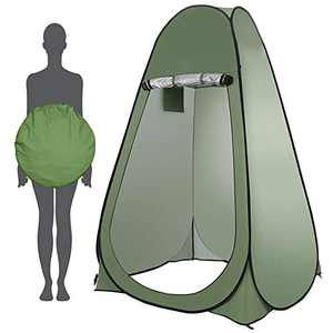 Portable Outdoor Changing Tent Pop Up Privacy Instant Shower Tent,Rain Shelter with Window,Outdoor Toilet for Beach Camping Fishing Green
