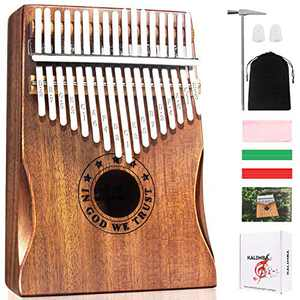 Kalimba Thumb Piano 17 Keys Musical Instruments, Mbira Finger Piano Gifts for Kids and Adults Beginners