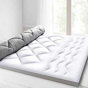 BedStory Mattress Topper 2.5 Inch, Ultra Soft Single Bed Topper with 100% Hypoallergenic Down Alternative Fiber, Breathable Hotel Quality Mattress Pad with 4 Anchor Bands, Mesh Cover Design 90x190cm