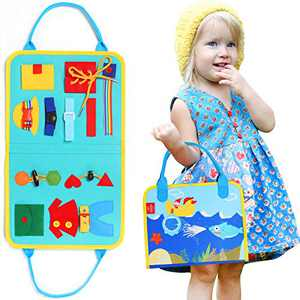 Lehoo Castle Valentine's Day for Toddlers, Toddler Busy Board, Montessori Preschool Busy Board, Basic Skills Board for Kid Learn to Dress, Montessori Toys Educational Learning Toys for Toddlers