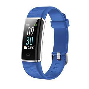 "Smart Watch, Fitness Tracker with Heart Rate Monitor, Activity Tracker with 1.3"" Touch Screen, IP68 Waterproof Pedometer Smartwatch with Sleep Monitor, Step Counter for Women and Men (Blue)"