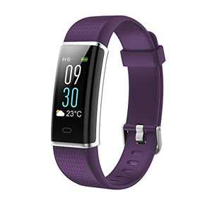 "Binken Smart Watch, Fitness Tracker with Heart Rate Monitor, Activity Tracker with 1.3"" Touch Screen, IP68 Waterproof Pedometer Smartwatch with Sleep Monitor, Step Counter for Women and Men (Purple)"