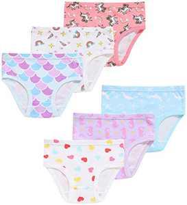 Little Girls Underwear Cotton Panties Briefs(Pack of 6) 3T
