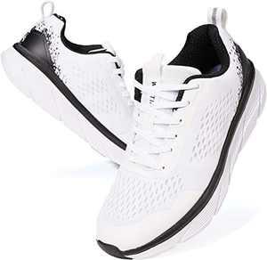 JOOMRA Men's Workout Shoes for Running White Size 8 Fitness Walking Jogging Teens Boys Lightweight Footwear Man Gym Athletic Tennis Sneakers 41