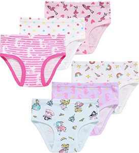 Princess Girls Panties Cotton Underwear Breathable Comfort Briefs(Pack of 6) 3T