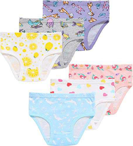Little Girls Underwear Christmas Cute Breathable Comfort Dolphin Lovely Panties(Pack of 6) 2T
