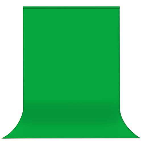 Yesker 6X 9.5 ft Green Screen for Photography, Chromakey Muslin Backdrop Background for Photo Video Studio, Zoom, YouTube,Online Meetings (Stand NOT Included)