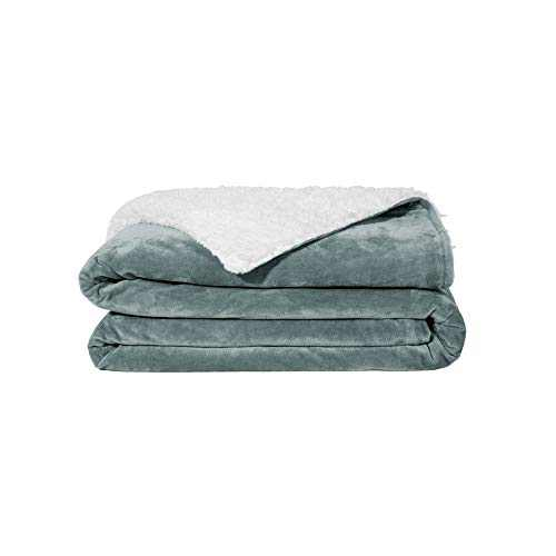 ZonLi Plush Weighted Blanket 7 lbs(41''x60'', Grey), Twin Size Weighted Blanket for Kids, Soft Fleece Heavy Blanket with Glass Beads