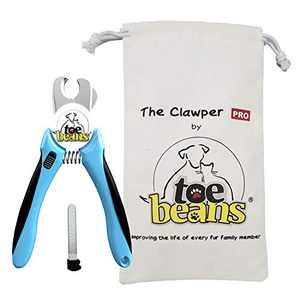 Toe Beans Clawper PRO Stainless Steel Dog and Cat Nail Clipper with Safety Cutting Guard, Claw Trimmer for Medium and Large Pets for Professional and Safe Grooming