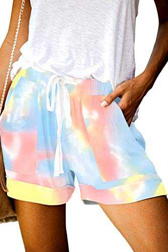 KISSMODA Casual Summer Shorts for Women Girls Drawstring with Pockets Short Lounge Pants XXL