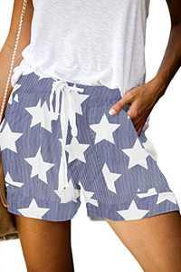 KISSMODA Womens Casual Shorts Elastic Waist Drawstring Pockets Summer Workout Short Pants