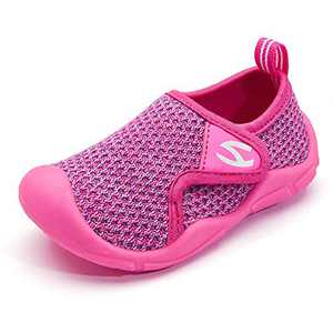 KIIU Toddler/Little Kid Boys Girls Breathable Sneakers Lightweight Athletic Running Shoes(Purple/Fushia-Size 9 Toddler)
