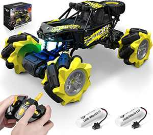 RC Crawler, 4WD Off Road Remote Control Cars, DoDoeleph RC Stunt Car with 52+ min Play for All Terrain Electric Vehicle Toys for 8-12 Years Boys Girls Teens