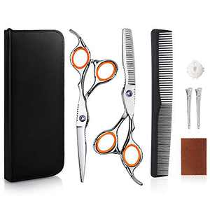 "Unimi 8 Pcs Hair Cutting Shears/Scissors,Thinning Shears,Sharp&Smooth Hair Cutting Scissors(6.7""),100% Japanese Stainless,Excellent Tension Adjusted Scissors for Home,Salon,Barber,Adults,Kids,Pets"