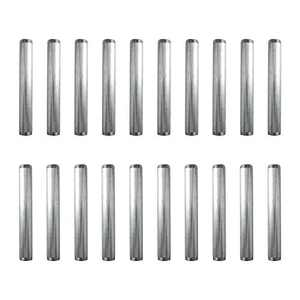 """Olywiz 3/4"""" 12 Inch Silver Malleable Steel Pipe Threaded Pipe Nipples, Build Vintage DIY Shelving Steampunk Furnitur 20Pack"""