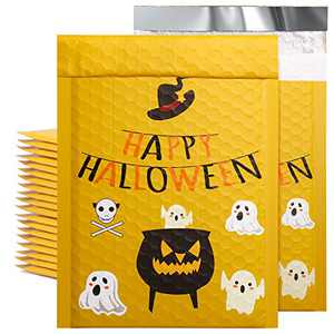Metronic 25pcs Halloween Padded Mailers 6x10 Inch Custom Envelopes Mailers #0 Spirit Design Lined Bubble Mailers Self Seal Lovely Bubble Envelopes