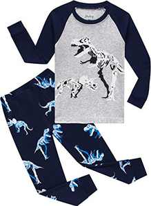 Little Boys Christmas Dinosaurs Pajamas Children Pjs Toddler Kids Sleepwear 6t
