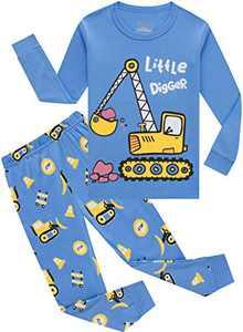 Little Boys Girls Truck Pajamas Christmas Kids Cotton Pyjamas Long Sleeve Pants Set 10t
