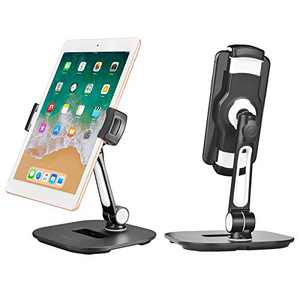 Tablet Stand Holder, Adjustable Cell Phone Tablet Stand Compatible with iPad Samsung Kindle 4-11'' Devices, Stable Desk Tablet Stand Using Aluminum Alloy Weight 1.99lbs