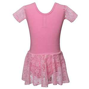 Meeyou Little Girls' Flower Ovelay Ballet Tutu Dress (4-5 Years, Pink Stytle 2)