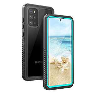 Fansteck Samsung Galaxy Waterproof S20 Plus Case, Underwater Phone Case with Built in Screen Protector and Fingerprint Compatible, Full Body Shockproof Protective Cover for S20 Plus (Blue & Clear)