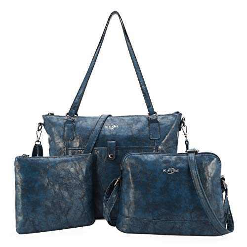 Women Shoulder Handbag Purse Top-Handle Hobo Roomy Casua Ladies' Shoulder Bag Fashion PU Tote Satchel Bag for Wome (A-KL2226#687#7D.BLUE)